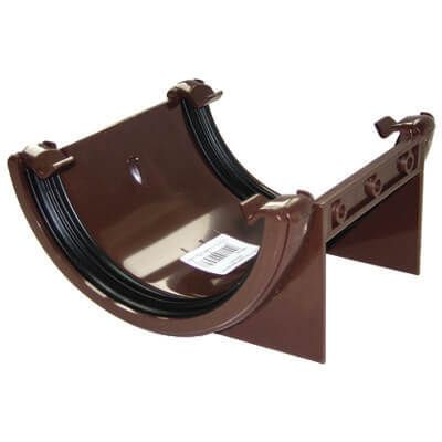 Half Round Gutter Union Bracket 112mm Brown