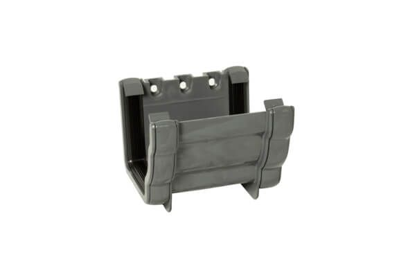 Ogee Gutter Union Bracket - 110mm x 80mm Anthracite Grey