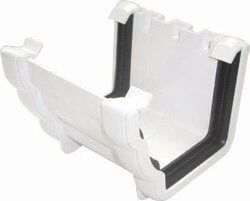 Ogee Gutter Union Bracket - 110mm x 80mm White