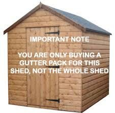 Mini Gutter Shed Pack Apex Style Roof - 8 x 6 Brown - OUT OF STOCK