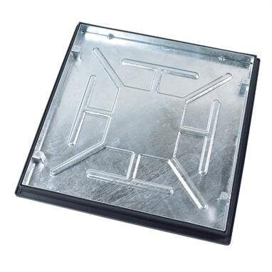 Recessed - Sealed and Locked Galvanised Steel Manhole Cover Square