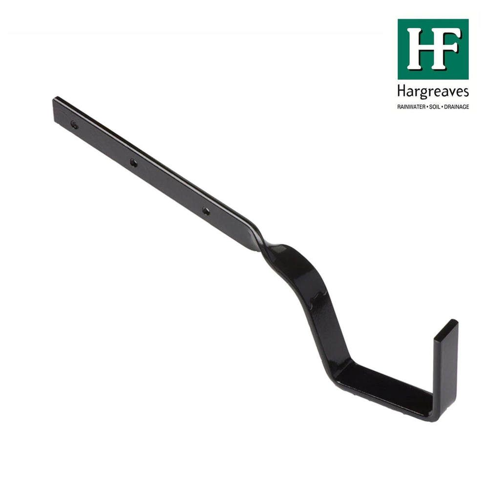 Cast Iron Box Gutter Side Rafter Bracket - 100mm Galvanised Black Painted