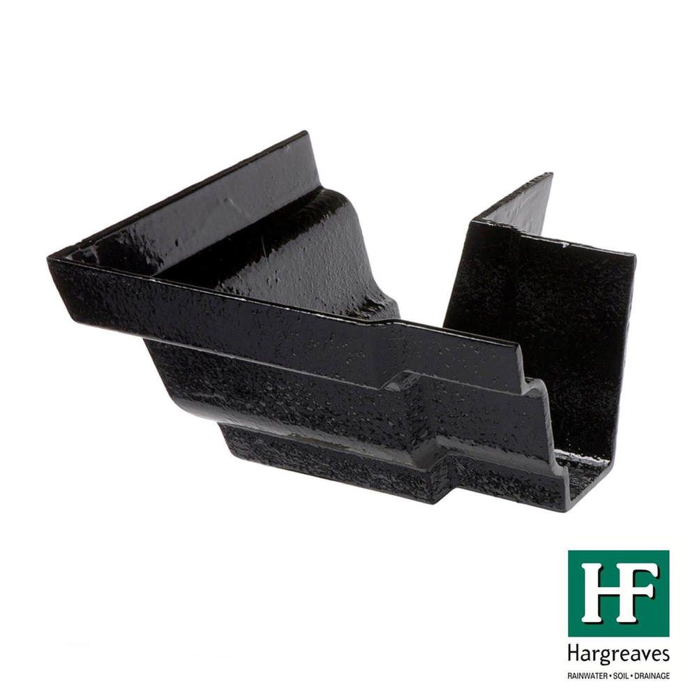 Cast Iron Moulded Ogee Gutter External Angle - 90 Degree x 125mm Black
