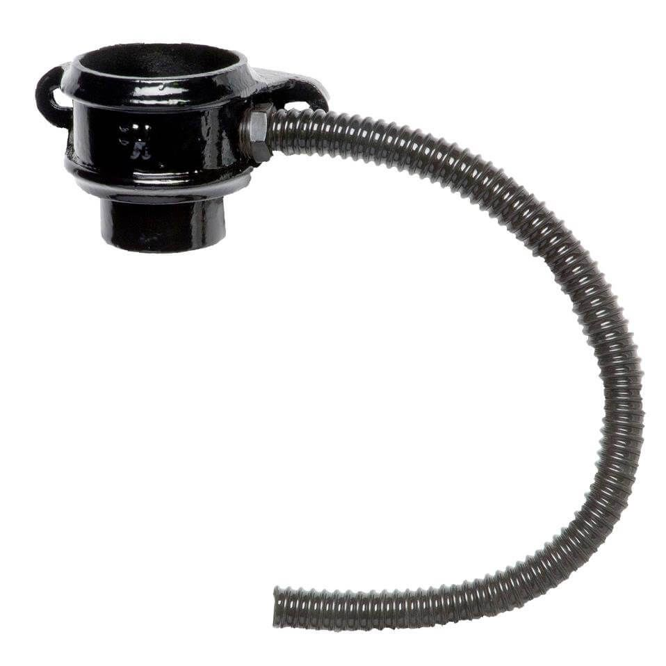 Cast Iron Round Downpipe Diverter Kit Right Hand - 75mm Black