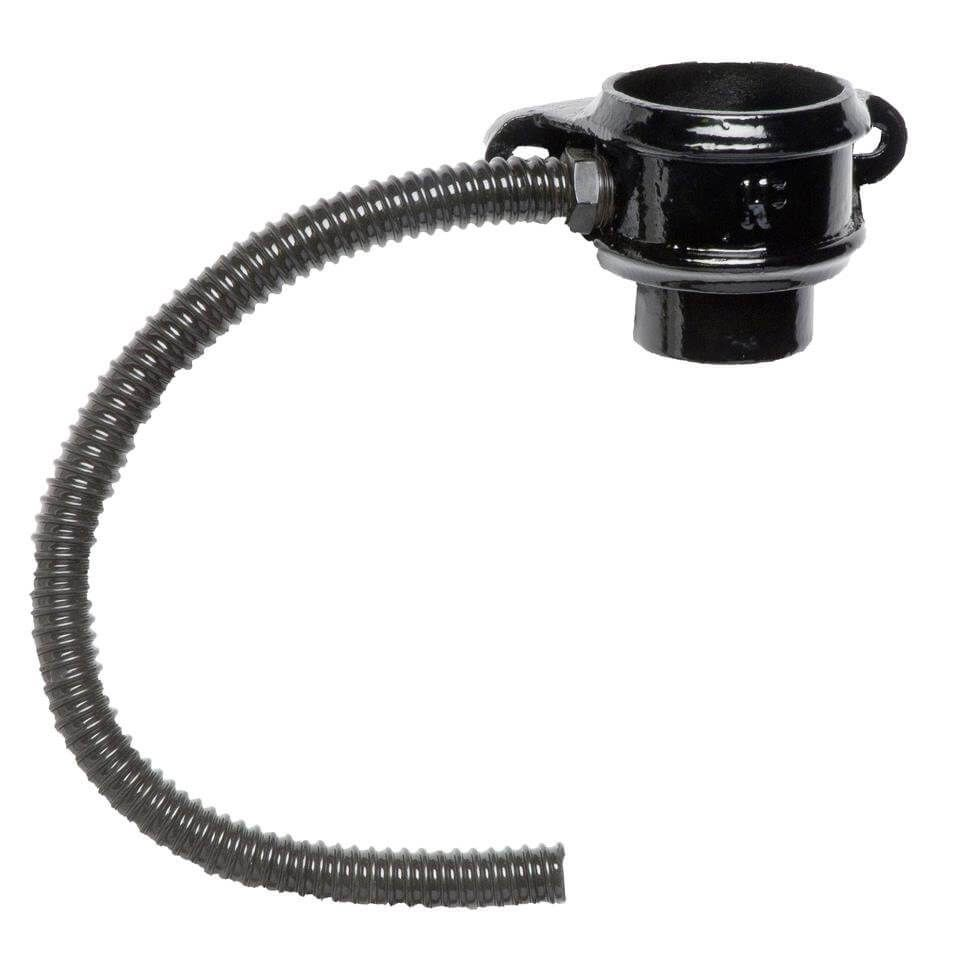 Cast Iron Round Downpipe Diverter Kit Left Hand - 100mm Black