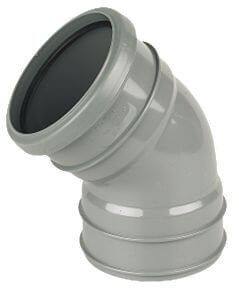 Industrial/ Xtraflo Downpipe Solvent Weld Offset Bend Top - 110mm Grey