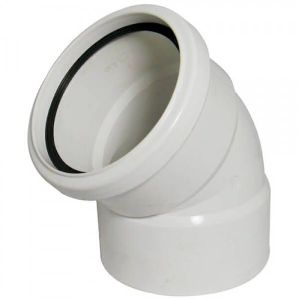Industrial/ Xtraflo Downpipe Solvent Weld Offset Bend Top - 110mm White