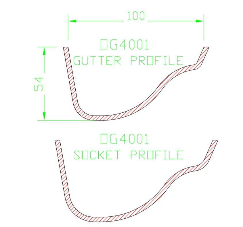 Cast Iron Ogee Gutter - 100mm x 1829mm Primed - OUT OF STOCK