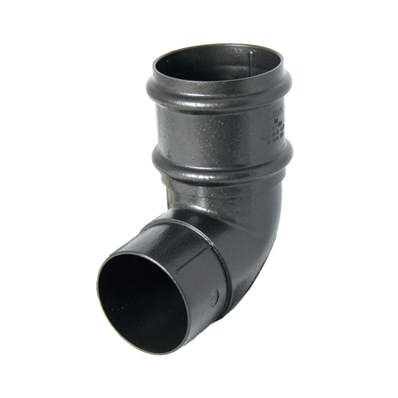Round Downpipe Bend - 92.5 Degree x 68mm Cast Iron Effect