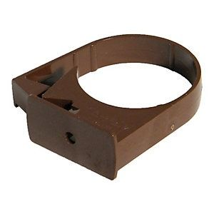 Round Downpipe Side Fix Clip - 68mm Brown