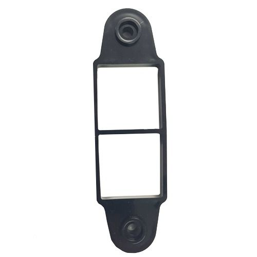 Square Downpipe Spacer Bracket - 8mm Black