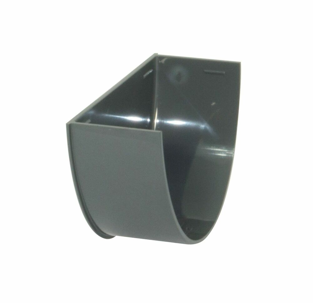Deepflow/ Hi-Cap Gutter Internal Stopend - 115mm x 75mm Anthracite Grey