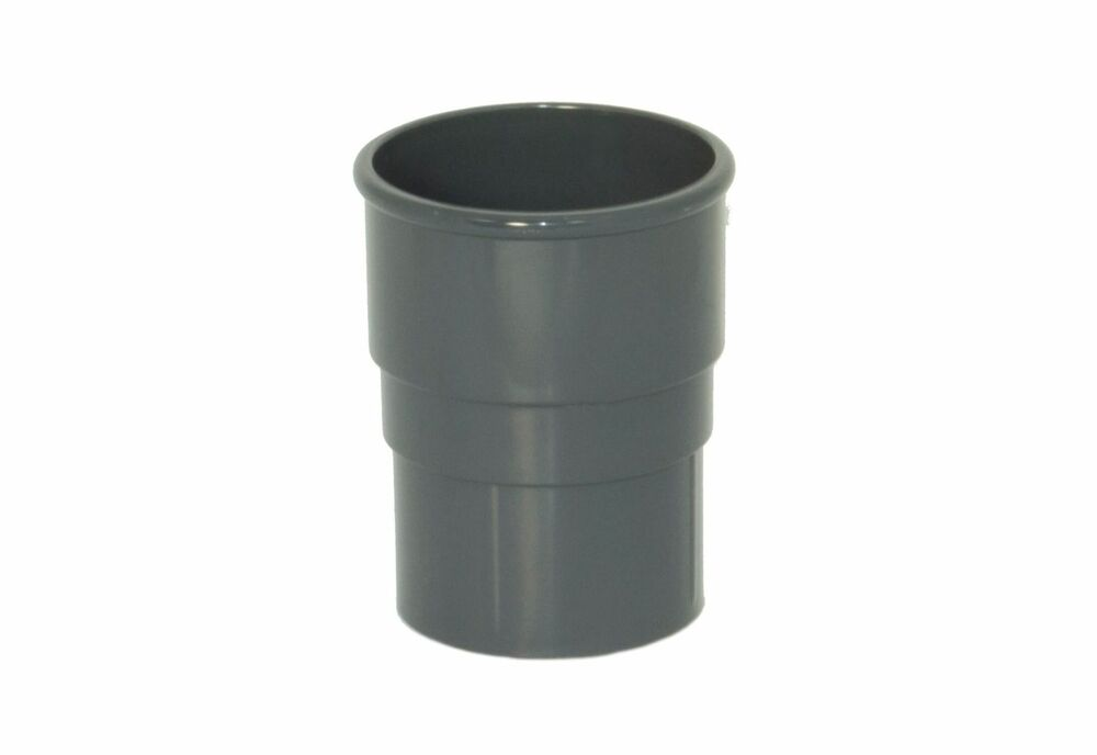 Round Downpipe Socket - 68mm Anthracite Grey