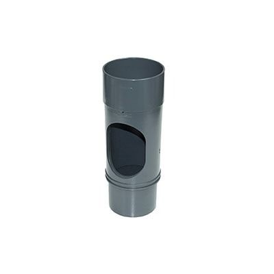 Round Downpipe Access Pipe - 68mm Anthracite Grey