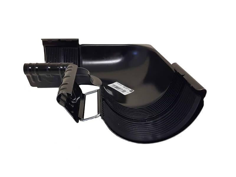 Steel Gutter Internal Angle - 90 Degree x 100mm Black