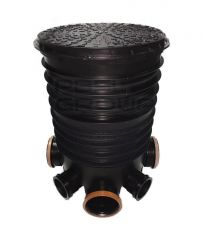Inspection Chamber Complete Set With Polypropylene Cover - 450mm Diameter For 160mm Drainage