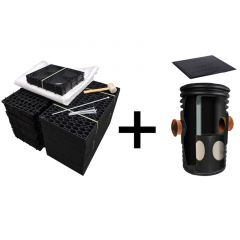 Flat-Packed Rainsmart Ellipse Soakaway Set with Silt Trap
