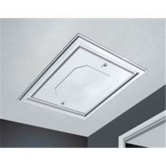 Loft Access Door Hatch Push Up - 562mm x 562mm White Textured Finish