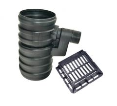 Yard Gully Set With Ductile Iron Grating - 40 Tonne x 450mm x 900mm x 160mm Outlet