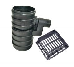 Yard Gully Set With Ductile Iron Grating - 40 Tonne x 450mm x 750mm x 160mm Outlet