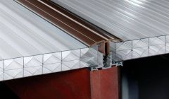 PVC Capped Rafter Bar Rafter Supported - 3mtr Brown