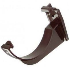 Half Round Gutter Fascia Bracket - 112mm Brown