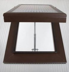 Roof Vent - for 25mm Polycarbonate Sheet Brown
