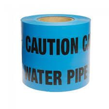 Water Pipe Marker Tape - 150mm x 365mtr