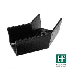 Cast Iron Box Gutter Angle - 135 Degree x 100mm Black