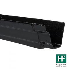 Cast Iron Moulded Ogee Gutter - 100mm x 1829mm Black