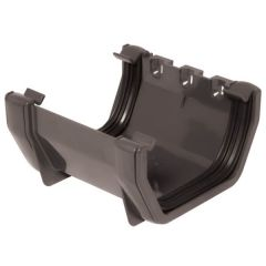 Square Gutter Union Bracket - 114mm Anthracite Grey