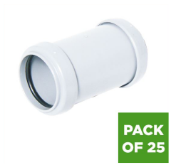 Push Fit Waste Coupling - 32mm White - Pack of 25