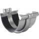Steel Gutter Union With Bracket - 150mm Galvanised