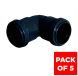 Push Fit Waste Bend Knuckle - 90 Degree x 32mm Black - Pack of 5