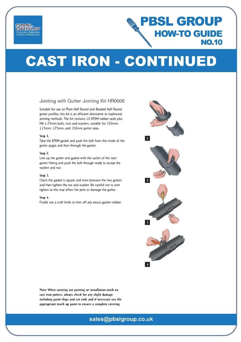 Cast Iron Gutter Installation - 3