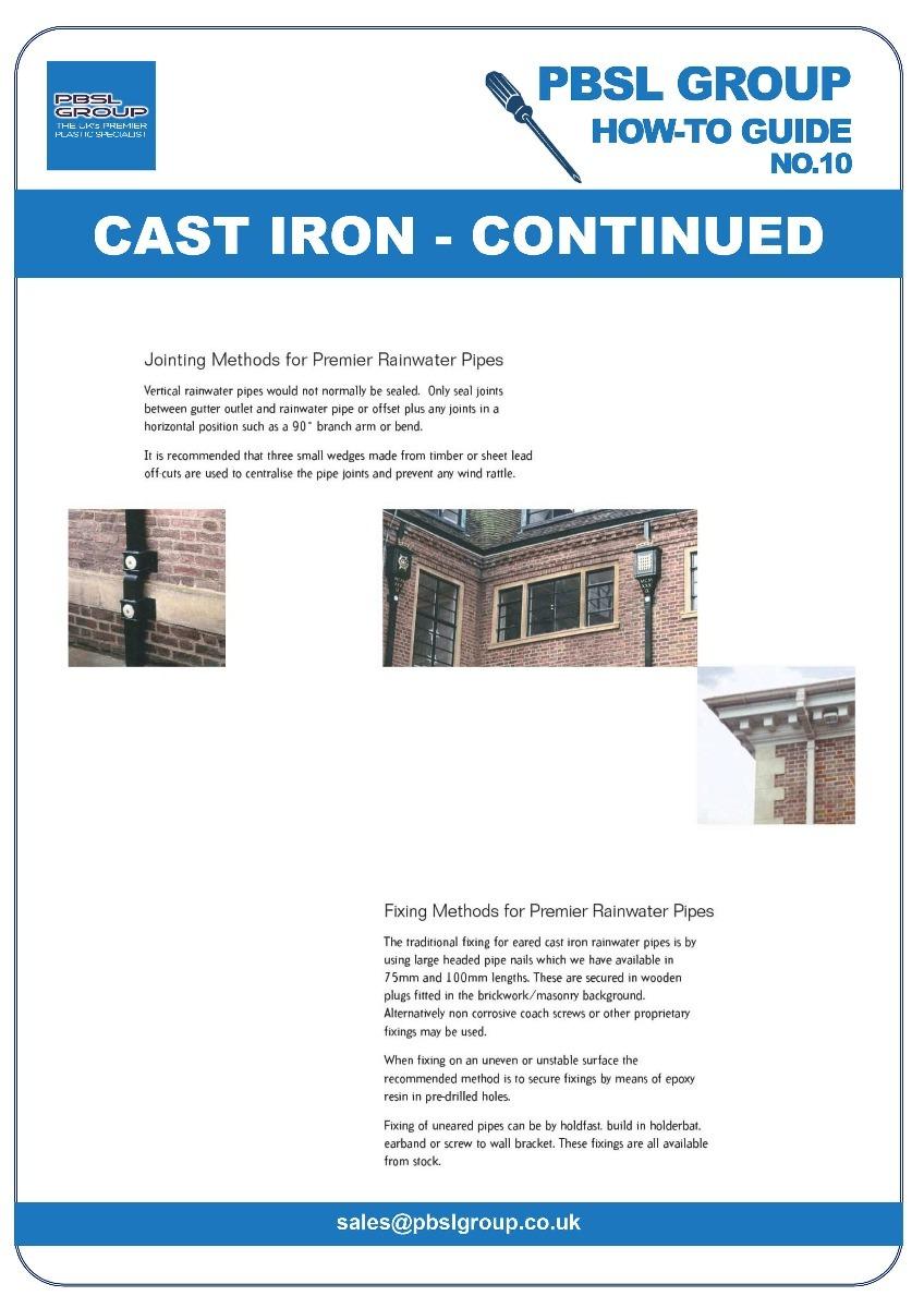 Cast Iron Gutter Installation - 2