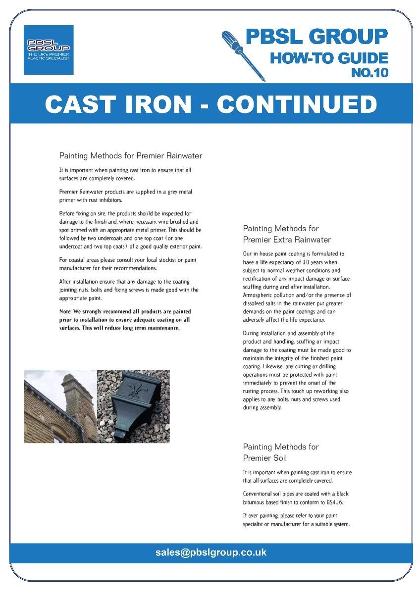 Cast Iron Gutter Installation - 4