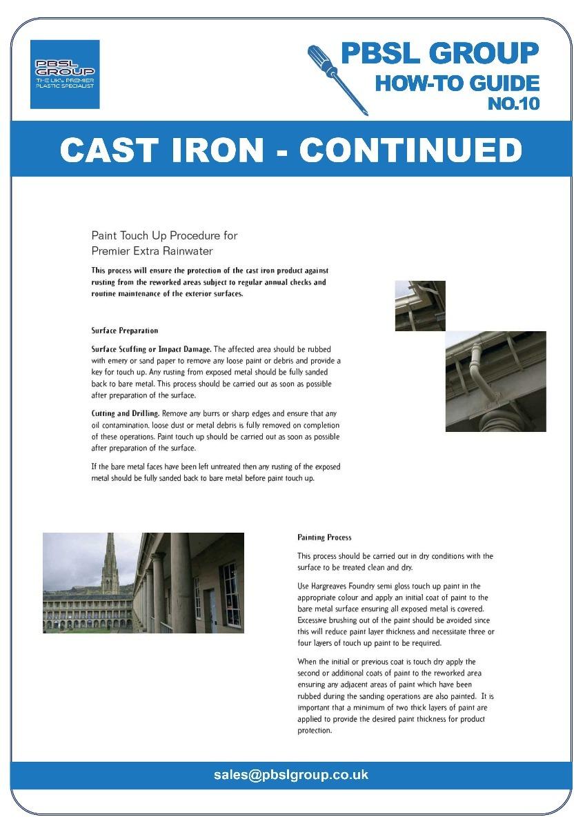 Cast Iron Gutter Installation - 5